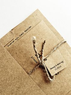 Rustic wedding invitation set  - Invitation and RSVP - Mad lib RSVP - KRAFT envelope - Country Wedding Invitation - Sample Set on Etsy, $4.30