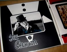 Groom Tuxedo Scrapbook Page Layout 12x12 | Scrapbook Your Wedding | Jenny and Pete