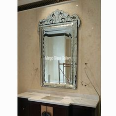 Venetian Mirror Style Large Verde MG 001147 Distressed Mirror, Vertical Or Horizontal, Venetian Mirrors, Oversized Mirror, Bubbles, Carving, Interior Design, Glass, Home Decor