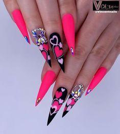 Cute Acrylic Nail Designs, Beautiful Nail Designs, Nail Art Designs, Simple Nail Designs, Nails Design, Perfect Nails, Gorgeous Nails, Love Nails, Amazing Nails