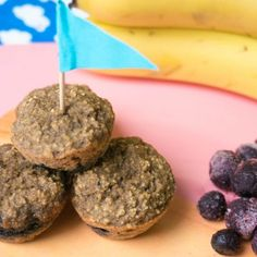 Healthy Kids Snack: Banana and Blueberry Oat Muffin / Gezonde Lunchbox Snack: Bananen & Bosbessen Havermout Muffins – By Babies Kitchen