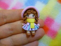 Mini polymer clay doll