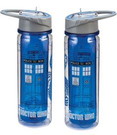 Doctor Who Tardis 18 oz. Tritan Water Bottle I thoight these were super cute! (I know you're both fans!)