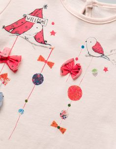 birds and bows t-shirt - T-shirts - Baby girl (3-36 months) - Kids - ZARA Spain