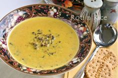 Cream of Kabocha and Wild Rice Soup and my 300th Post - Roti n Rice