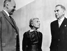 Fritz Strassman, Lise Meitner et Otto Hahn, en 1956.
