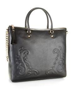 Juicy Couture Embossed Zip-top Tote BLACK
