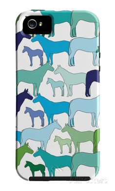 Cool Horse Pattern iPhone 5/5S Case by Avalisa at AllPosters.com