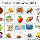 Find A Friend Who Likes... (A Get to Know You Game)  Kindergarten First Day of School