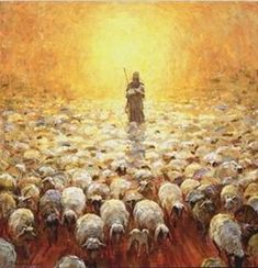 Isaiah 40:11 He tends his flock like a shepherd: He gathers the lambs in his arms and carries them close to his heart; he gently leads those that have young.
