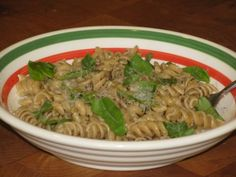 Basil and Parmesan Pasta- 332 calories