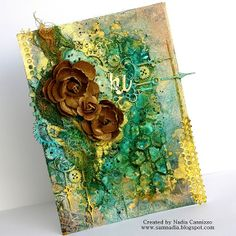 Lindy's Stamp Gang Guest Designer Part 2 + a video tutorial - more beautiful work by Nadia Cannizzo