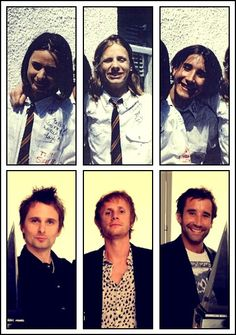 muse now and then young matt bellamy matthew dom dominic howard tom kirk