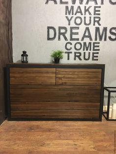 Купить Комод из лиственницы KANSAS. - коричневый, купить мебель, лофт, индустриальный стиль, лофт стиль