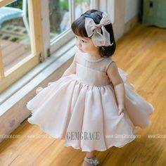 Blush Pink Cute Puffy Flower Girl Dress Baby Toddler Pageant Gown at GemGrace. Shop now to get […] Toddler Flower Girl Dresses, Dresses Kids Girl, Kids Outfits, Baby Girl Frocks, Frocks For Girls, Toddler Pageant, Designer Flower Girl Dresses, Baby Dress Design, Baby Girl Fashion