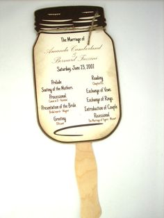 Wedding Program  Mason Jar Wedding Program by Scrappingoodtimes, $10.00