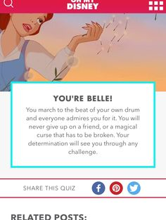 Which Disney Princess are you? Belle