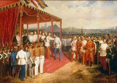 Emperor Franz Joseph with his generals, 1850.