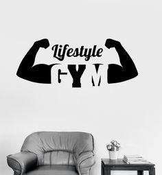 Vinyl Decal Gym Healthy Lifestyle Motivation Sport Fitness Bodybuilding Wall Stickers (ig2623)