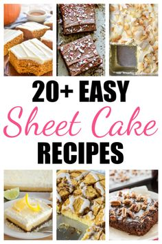 20 Easy Sheet Cake Recipes - Rose Bakes #cakerecipes #cake #sheetcake