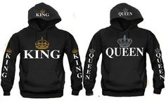 2da6911eba Shop a great selection of King Queen Couples Hooded Sweatshirt. Find new  offer and Similar products for King Queen Couples Hooded Sweatshirt.