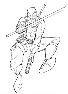 Deadpool Coloring Pages DEADPOOL Pinterest Deadpool