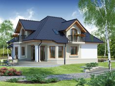 Wizualizacja DA Dandys 1 G2 CE Cottage Style Homes, Home Fashion, Palace, House Plans, Shed, 1, Outdoor Structures, Small Houses, How To Plan