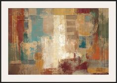 Tangletown Fine Art Oriental Trip Crop by Silvia Vassileva Framed Painting Print on Wrapped Canvas Painting Frames, Painting Prints, Art Print, Giclee Print, Canvas Artwork, Canvas Prints, Interior Design Color Schemes, Abstract Paper, Abstract Paintings