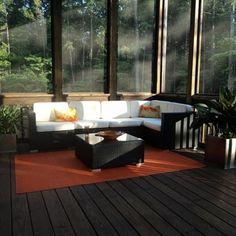 contemporary closed in patio