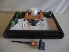 Marvelous An Actual Zen Garden Takes Much Space. However, This Desk/Table Top Zen  Garden Was Handcrafted To Simulate And Help You Experience The Same