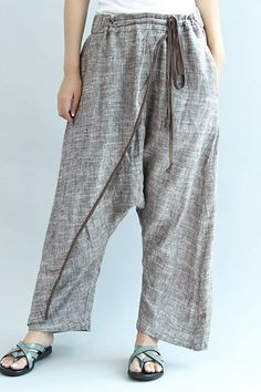 cd59f4bcafb Gary Loose Leisure Linen Pants Women Trousers Linen Pants Women
