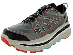 Hoka One One Mens M Stinson Atr AnthraciteGreyRed Running Shoe 115 Men US ** More info could be found at the image url.