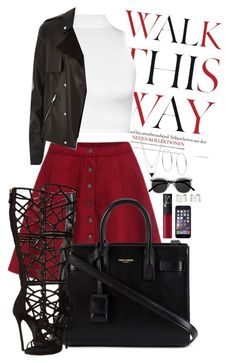 """""""Walk this way"""" by goldenhippy on Polyvore featuring Anja, WearAll, River Island, Yves Saint Laurent, Dsquared2, NARS Cosmetics, House of Harlow 1960, Maison Margiela and Michael Kors"""