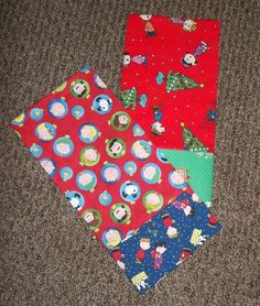 PEANUTS Charlie Brown Christmas pillow cases handmade standard/queen CHOICE #Handmade