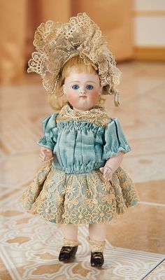 Cotillion - The Susan Whittaker Collection : 411 Most Endearing German All-Bisque Miniature Doll by Kestner with Original Costume