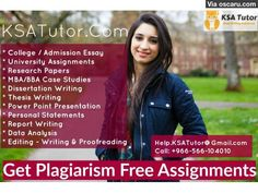 KSA Assignment & Essay Writing Services by Experts
