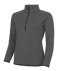 c672f867bd52a AWDis Ladies Girls Womens Half Zip Sweat Top Jacket - Running Fitness Yoga  Gym Yoga Gym