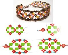 D.I.Y - Beaded Bracelet featured FREE tutorial in Bead-Patterns.com Newsletter!