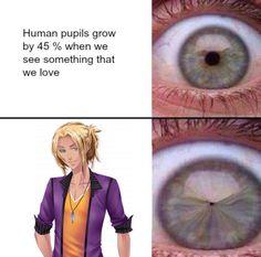 Las pupilas humanas crecen una 45% cuando vemos algo que nos gusta xD