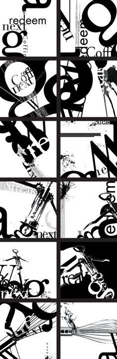 TYPE COMPOSITIONS by Ilana Bandarovsky, via Behance