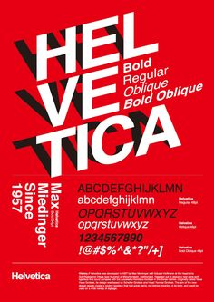 Max Miedinger - the various versions of helvetica