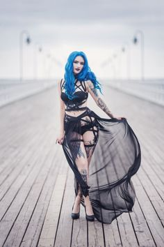 Model: BLUE ASTRID Photo: Aneta Pawska - Enchanted Stories Clothing: Askasu Welcome to Gothic and Amazing |www.gothicandamazing.com