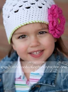 Little Miss Frilly Original Crochet Hat white by littlemissfrilly, $19.95