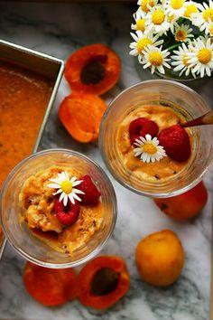 MERUŇKOVO KARAMELOVÁ ZMRZLINA      Karamel vyrábím obvykle z datlí. Je to neuvěřitelná bleskovka. Stačí rozmixovat datle s vanilkovým extraktem, ořechovým máslem a voila.... Delicious Blog, Pudding, Desserts, Food, Tailgate Desserts, Deserts, Custard Pudding, Essen, Puddings