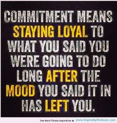 inspiring fitness quotes images | motivational fitness quote about the true meaning of commitment…