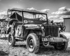 WW2 Willy's Jeep 8x10 Black and White Photograph by SolsticePhoto, $20.00