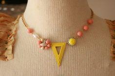 peaches and lemons girls necklace @sweetshoppejewelrystore.com #handmadevintagejewelry