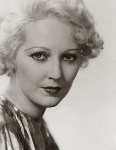 Thelma Todd, the Ice Cream Blonde who died mysteriously in 1934.