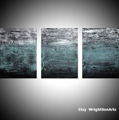 LARGE WALL ART triptych 3 panel wall contemporary by wrightsonarts