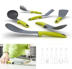 Elevate Kitchen Tools by Joseph and Joseph Toy Kitchen, Green Kitchen, Kitchen Items, Kitchen Hacks, Kitchen Tools, Kitchen Gadgets, Cooking Utensils, Cooking Tools, Kitchen Utensils
